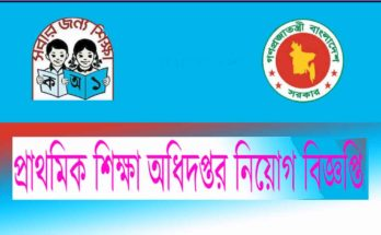 DPE primary school recent job circular